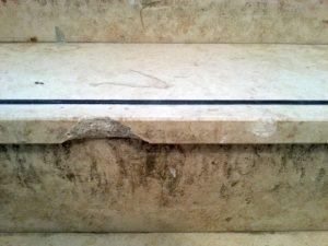 Naturstein Treppen Reparatur von Treppenstufen