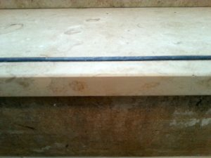 Treppen aus Naturstein, Kalkstein reparieren