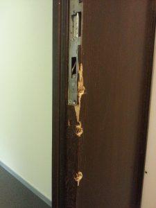 Einbruchschaden an Tür beheben